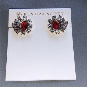 Kendra Scott Atticus stud earring berry